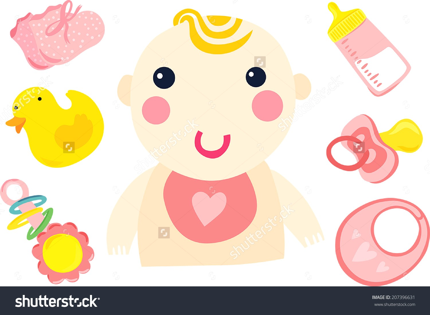 1500x1100 Newborn Baby Stuff Icons Set Vector 1632652 15 Pictures Of