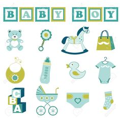 236x236 Newborn Baby Stuff Icons Set