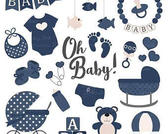 340x270 Premium Oh Baby Clipart Amp Vectors Set In Grey Grey Grey Baby Etsy