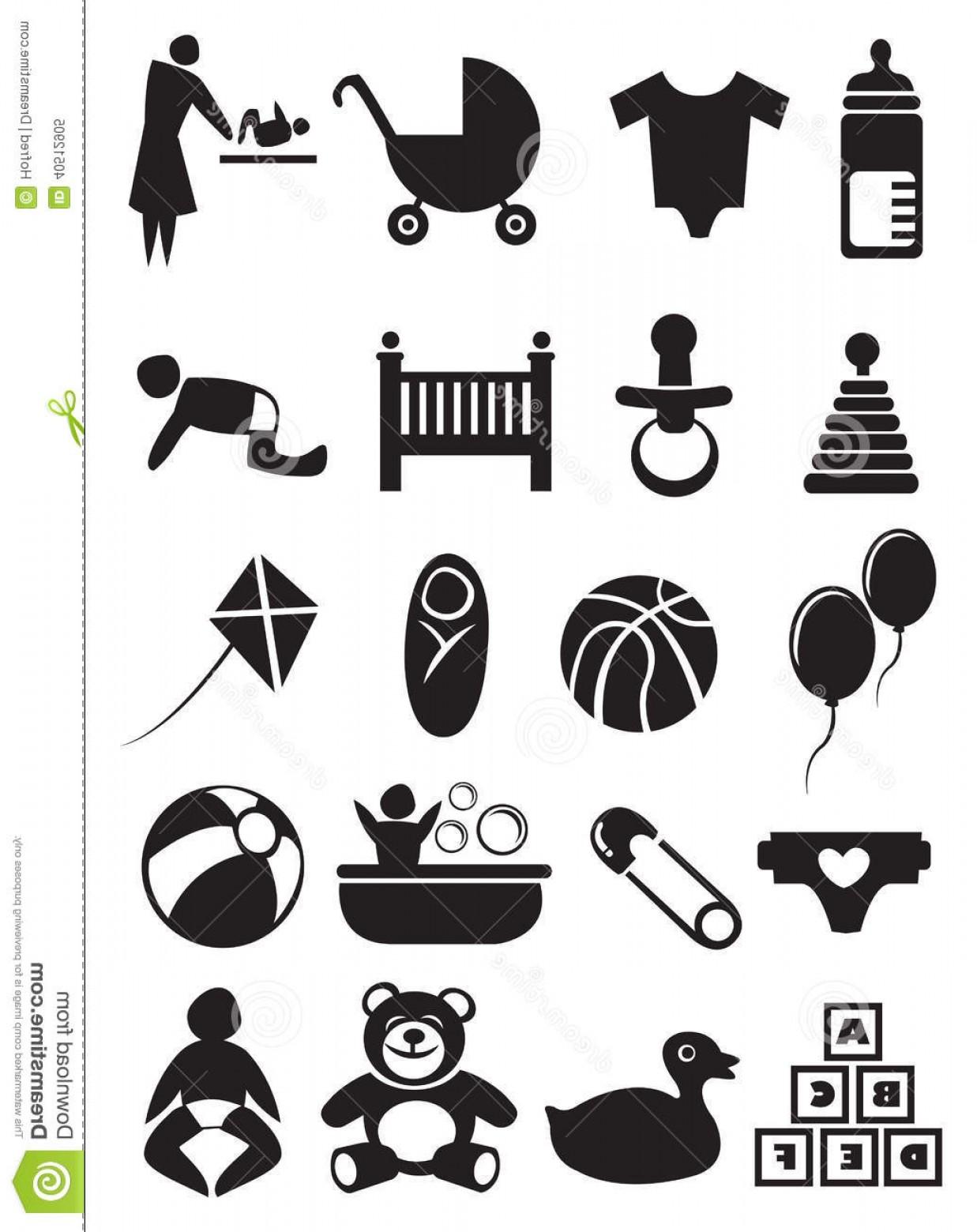 1237x1560 Royalty Free Stock Photo Baby Stuff Icon Set Vector Illustration