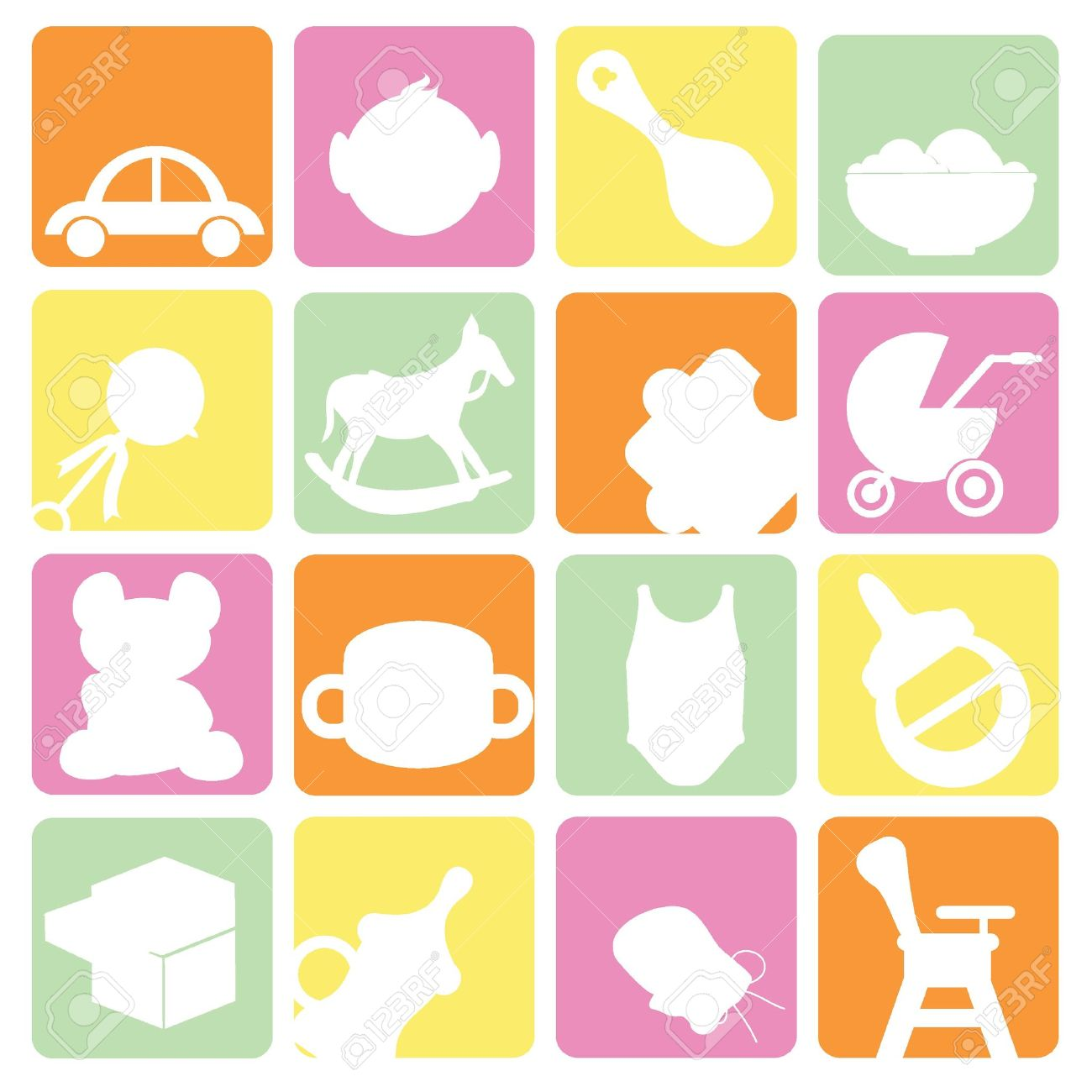 1300x1300 Baby Items Icons Free Icons