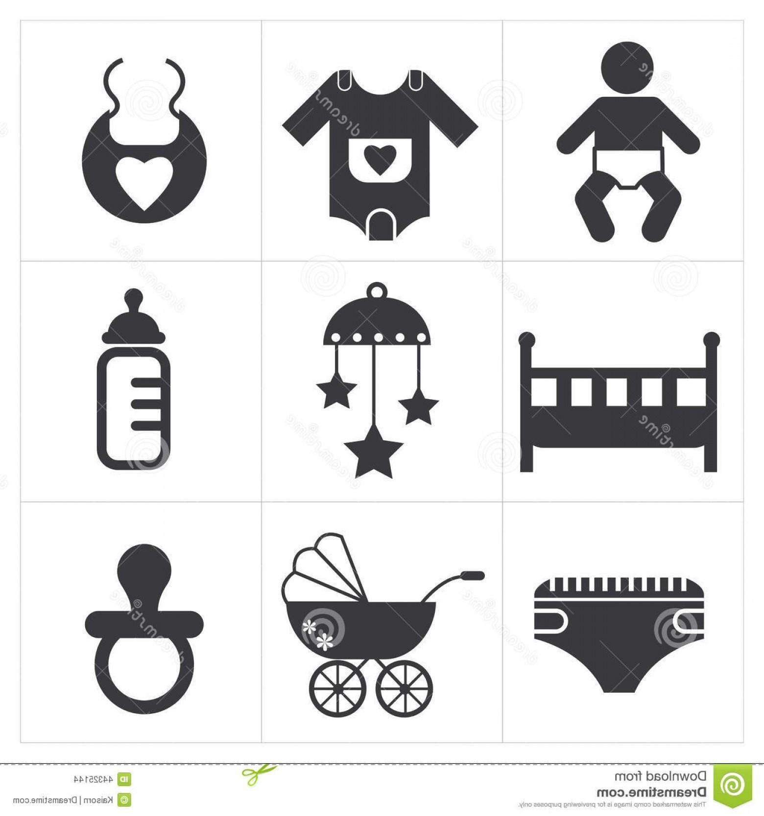 1560x1668 Stock Illustration Baby Stuff Icon Vector Set Image Shopatcloth