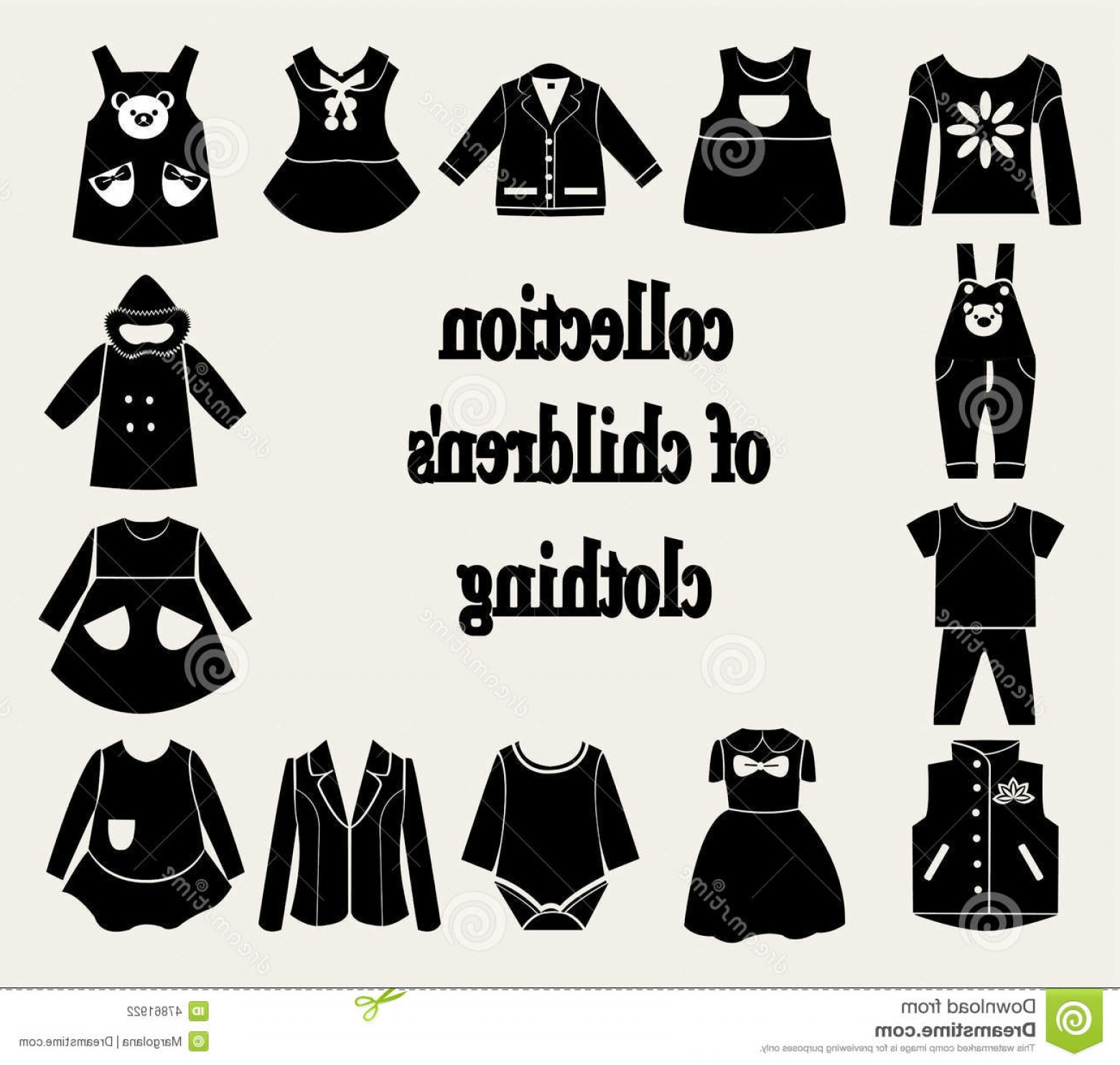 1560x1484 Stock Illustration Collection Children S Clothing Vector Baby
