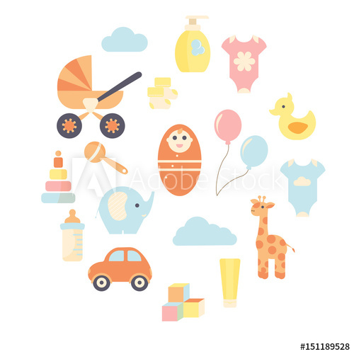 500x500 Sweet Collection Of Colorful Baby Stuff