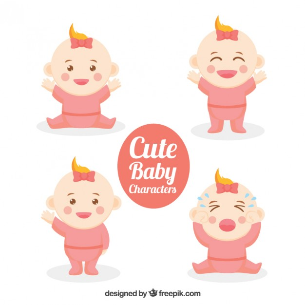 626x626 Lovely Nice Baby Characters Vector Free Download