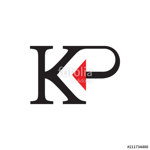 500x500 Kp Logo Letter Design With Back Arrow Stock Image And Royalty