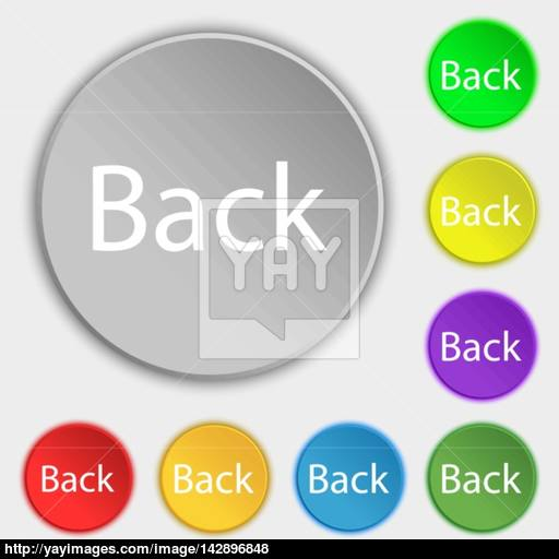Back Button Vector