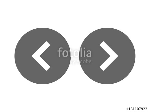 500x375 Left Right Or Back Next Icon Button Vector Stock Image And