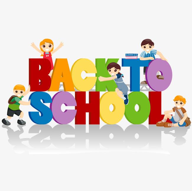 650x646 Cute Children Back To School Theme Vector, Children Vector, School