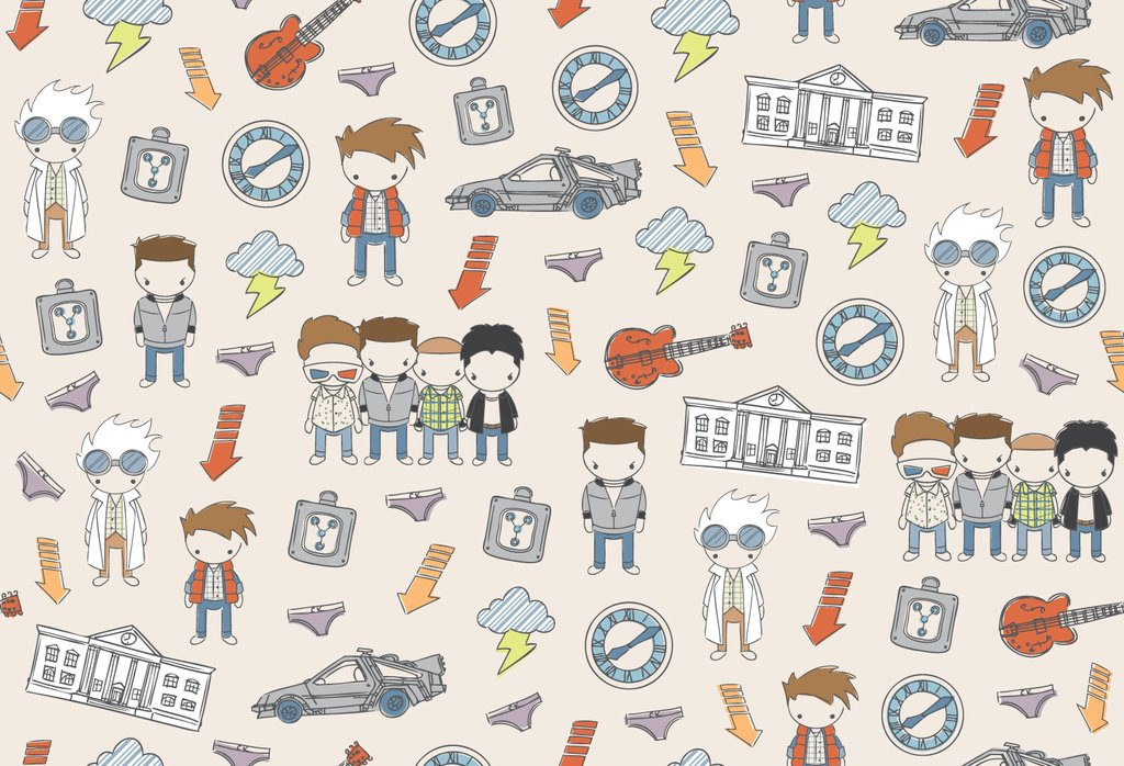 1024x698 Back To The Future Baby Print By Channelchangers