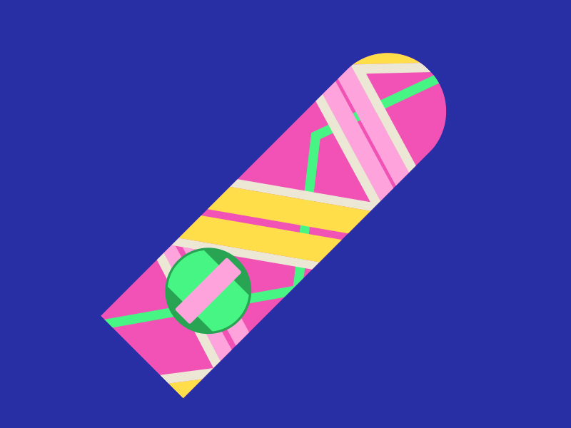 800x600 Back To The Future Hoverboard Vector Illustration By Christopher