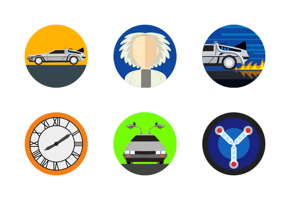 588x406 Back To The Future Icons By Veiga Studio