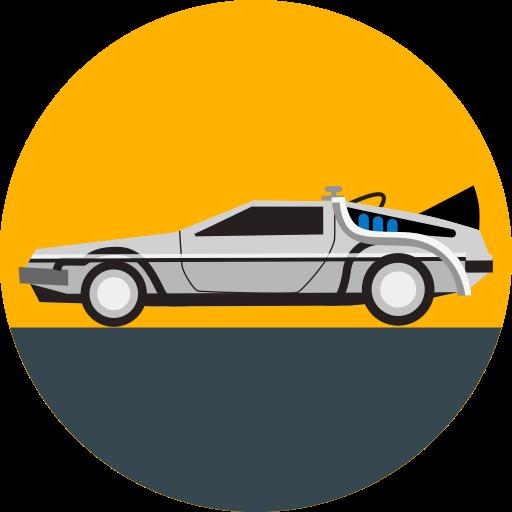 512x512 Back To The Future, Car, Delorean, Future, Transport