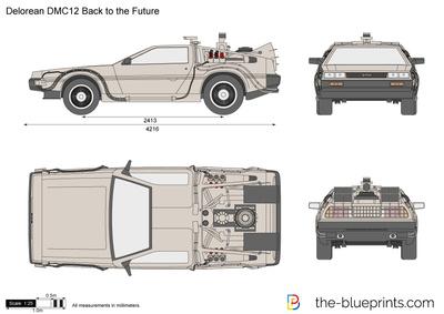 400x283 Delorean Dmc12 Back To The Future Vector Drawing