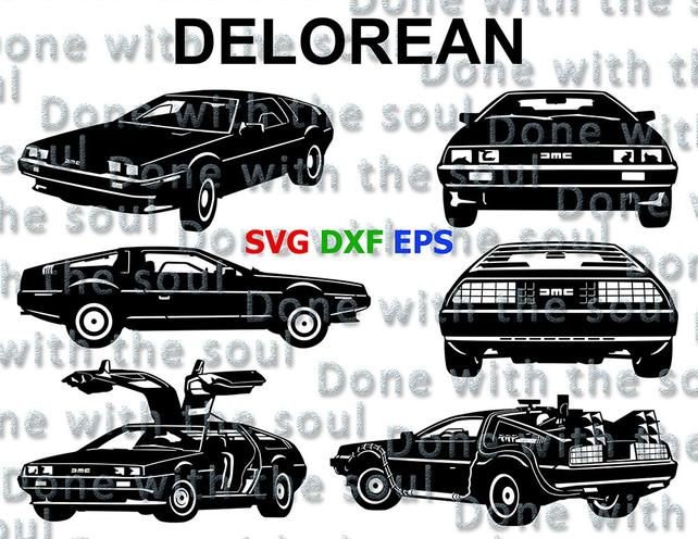 642x496 Delorean Time Machine Back To The Future Car Vector Etsy