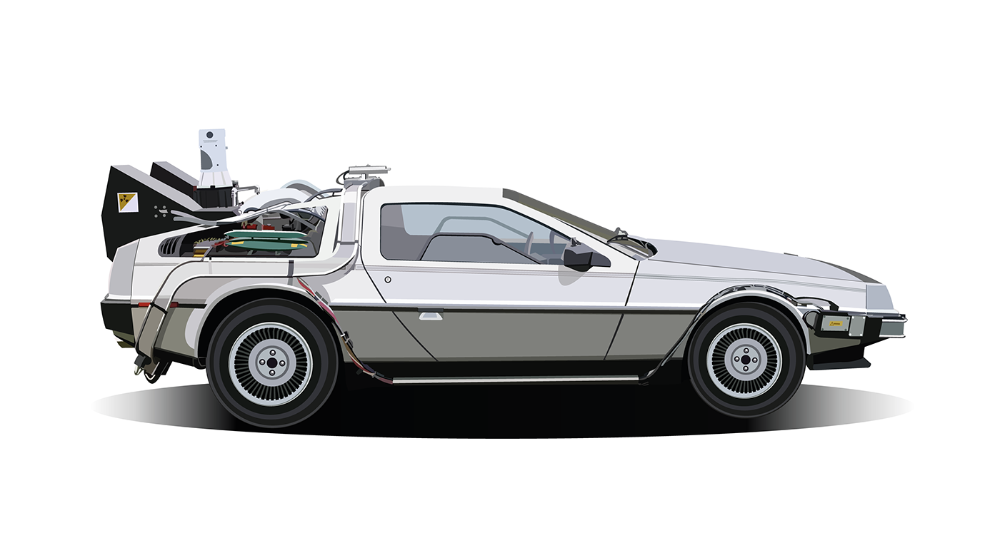 1400x768 Vector Illustration Of The Delorean Back To The Future On Behance