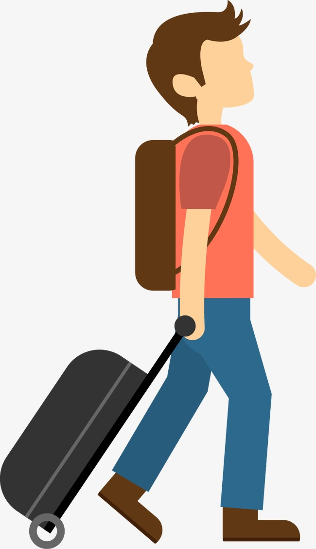 650x1128 Travel Male Backpacker, Travel Vector, Vector, Male Backpacker Png