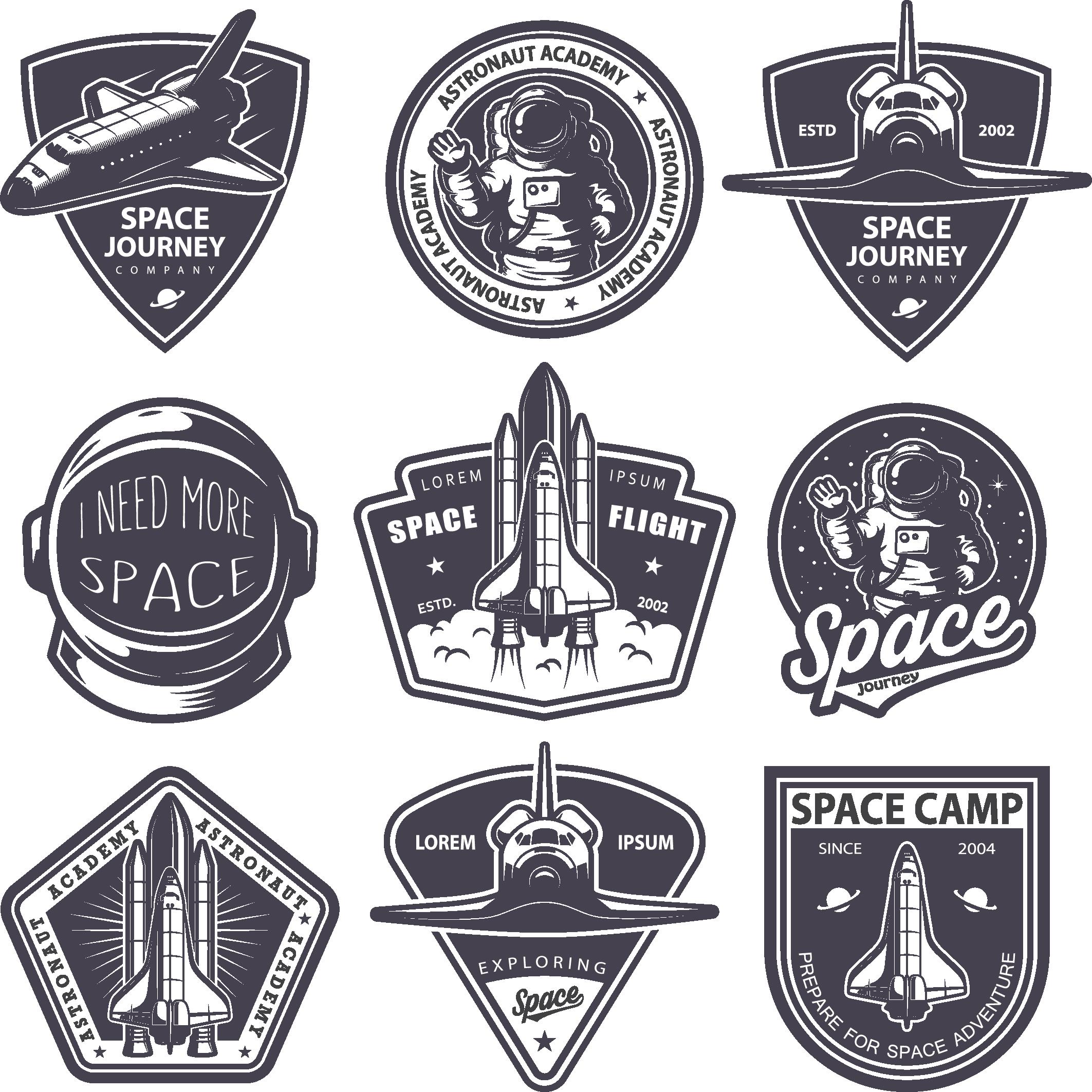 2125x2124 Astronaut Badge Logo