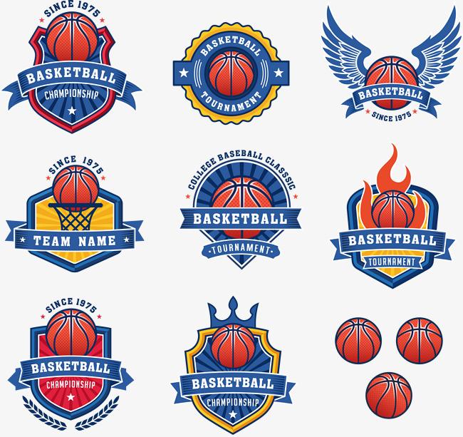 650x613 Blue Basketball Team Badge Logo, Basketball Clipart, Team Clipart