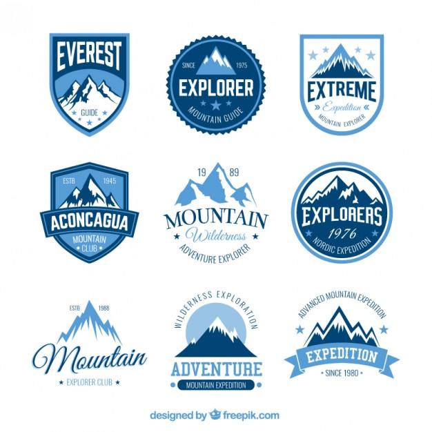 626x626 Mountain Adventure Badges Vector Free Download