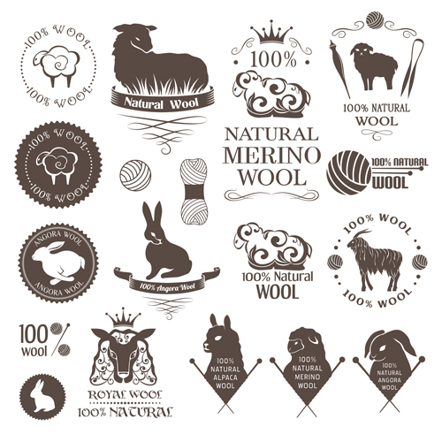 500x500 Natural Wool Logo With Badge Vector 06 Free Download