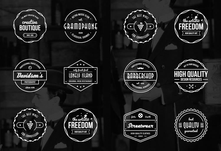750x513 15 Free Vintage Logo Amp Badge Template Collections
