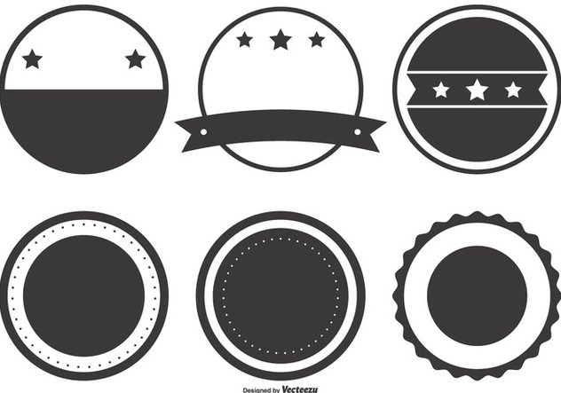 632x443 Blank Retro Badge Shapes Free Vector Download 395671 Cannypic