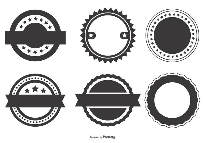 700x490 Blank Vector Badge Shapes Collection