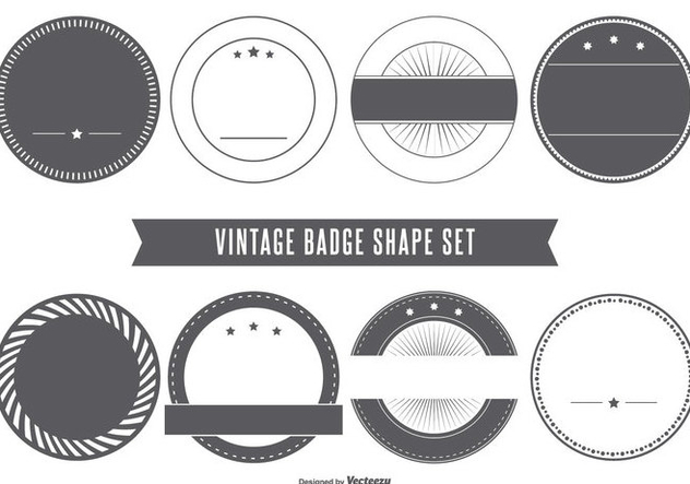 632x443 Blank Vintage Badge Shapes Free Vector Download 401691 Cannypic