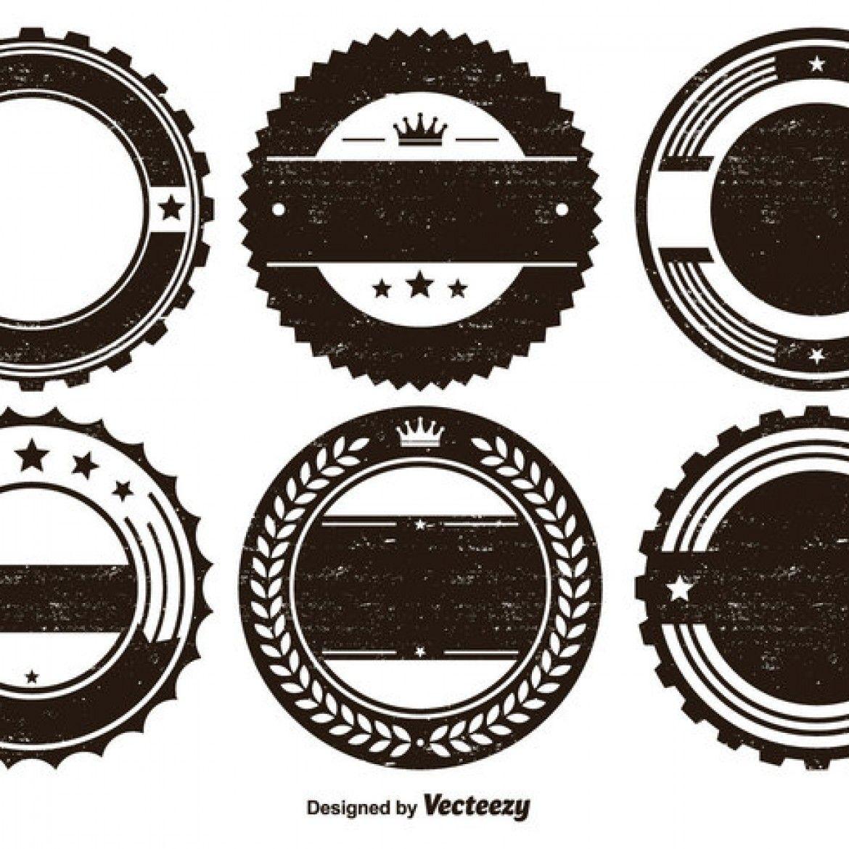 1170x1170 Free Vector Distressed Badge Shape Set