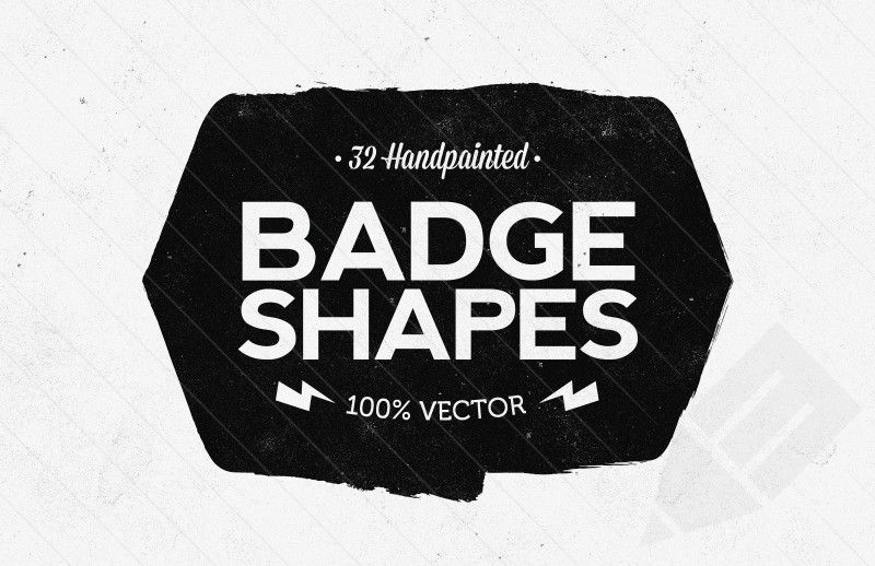800x518 Hand Painted Vector Badge Shapes Mockups 2 Badges