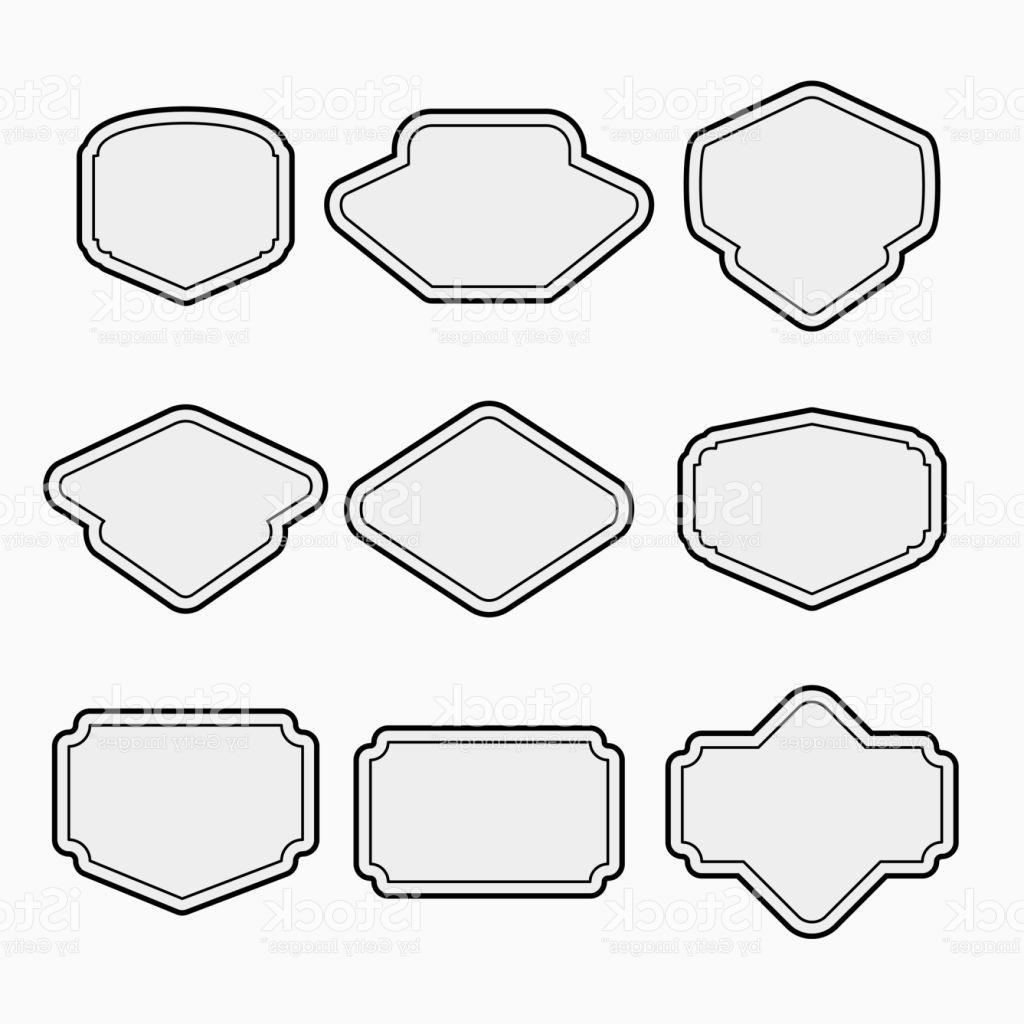 1024x1024 Top 10 Set Of Outline Badge Shape Vector Design