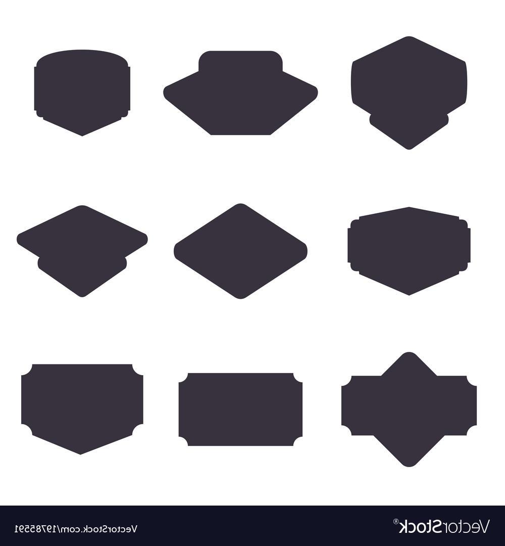 1000x1080 Top Set Of Black Badge Shape Vector File Free