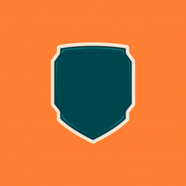 626x626 Unique Futuristic Tech Blank Shield Badge Shape Template Vector