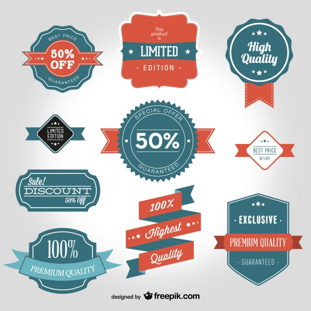 626x626 Vintage Badges For High Quality Products Vector Free Download