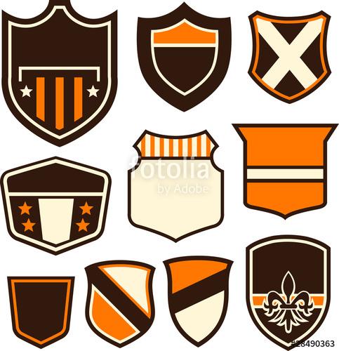 483x500 Emblem Badge Shield Symbol Shape Stock Image And Royalty Free