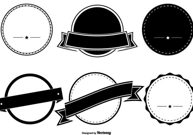 632x443 Assorted Badge Shape Set Free Vector Download 331419 Cannypic