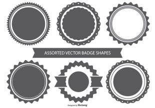 310x217 Badge Shape Set Free Vectors Ui Download