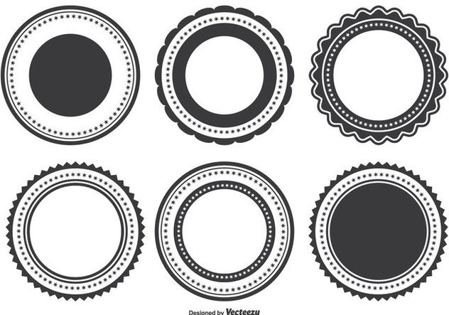 632x443 Badge Shape Set Free Vector Download 338125 Cannypic