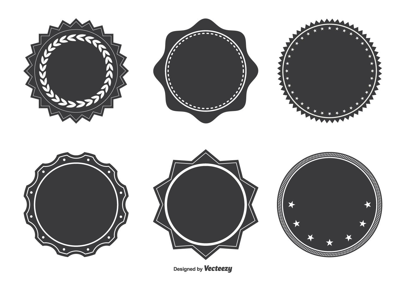 1400x980 Free Vector Assorted Badge Shape Set