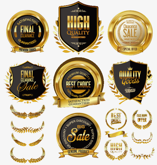 539x567 Gold Badge Vector Material, Golden, Badge, Vector Png And Vector