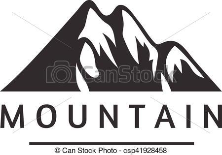 450x315 Mountain Vector Icon Badge. Mountain Silhouette Elements. Outdoor