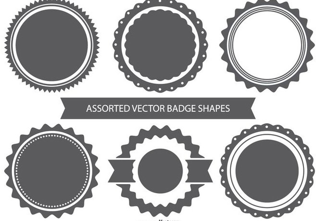 632x443 Vector Badge Shape Set Free Vector Download 367795 Cannypic