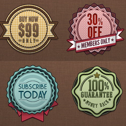250x250 Badge And Label Vector Template With Psd File Psddude