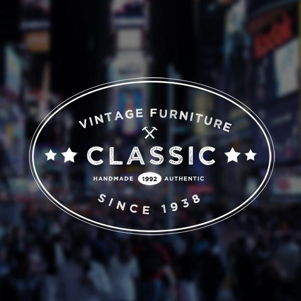 600x600 Free 5 Vintage Logo Badges Psd Vector Templates Freebies
