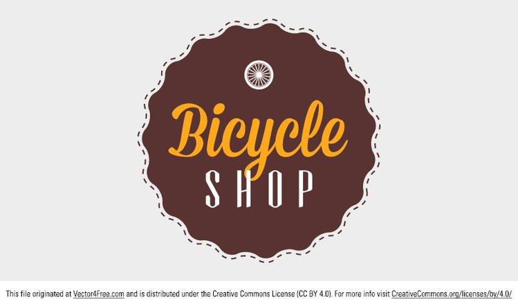 749x442 Free Bicycle Shop Badge Psd Files, Vectors Amp Graphics