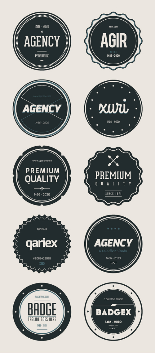 500x1132 Retro Vector Badges For Designers (Psd, Ai Amp Eps) Vector Icons
