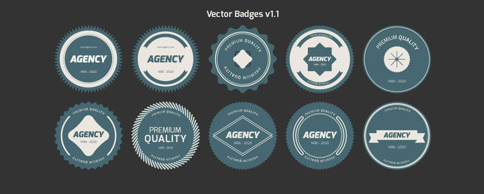 954x383 Free Badges Vector And Psd Templates