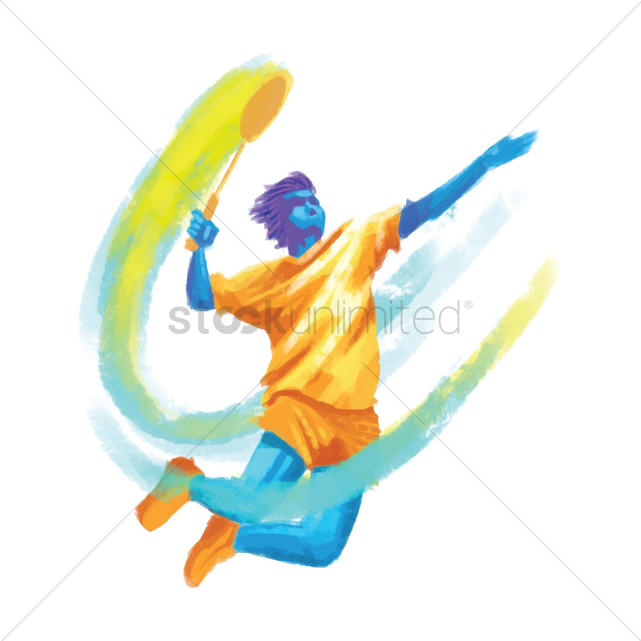 1300x1300 Sports Competition Badminton Vector Image