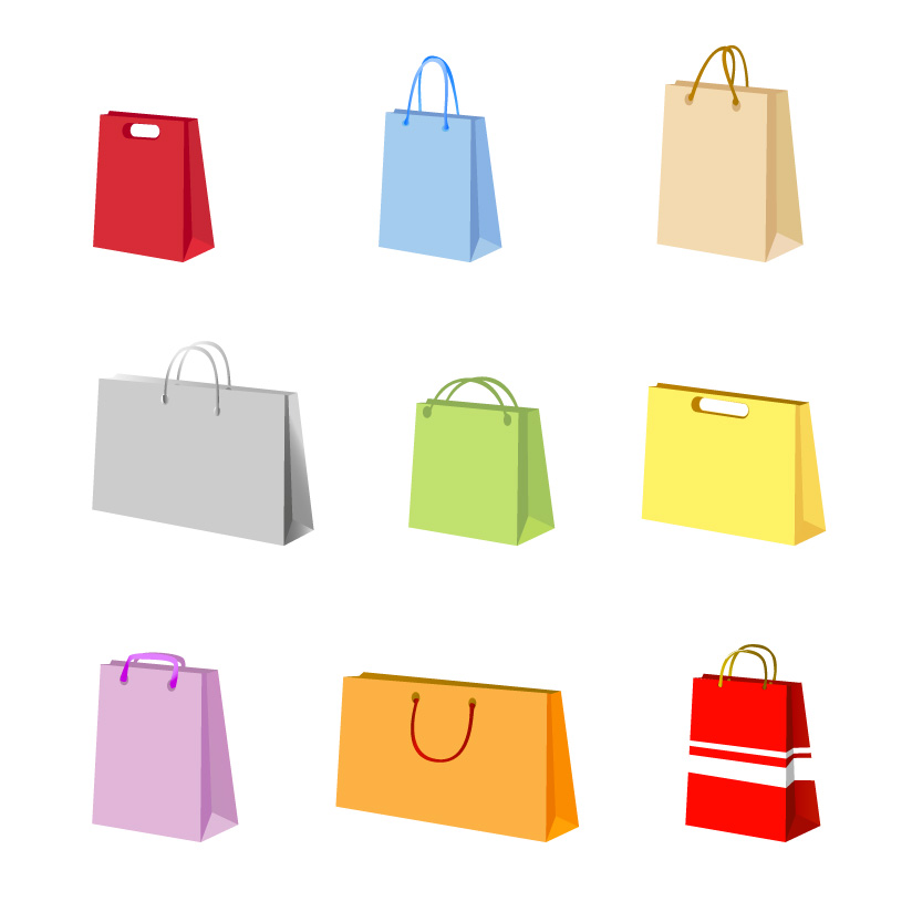 824x824 A Variety Of Colorful Clip Art Bag Bags Free Vector 4vector